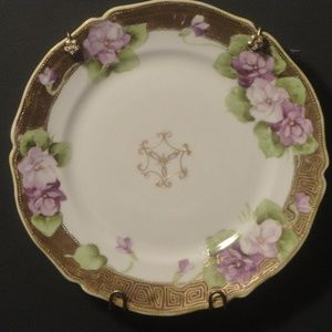 NOPPON VTG Hand Painted Wall Hanging Violet Plate